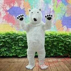 Polar Bear Mascot Costume for Adults