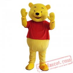 Winnie The Pooh Mascot Costume for Adults