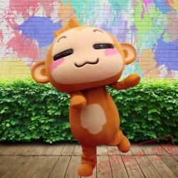 Happy Monkey Mascot Costume for Adults