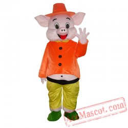 Happy Pig Mascot Costume for Adults