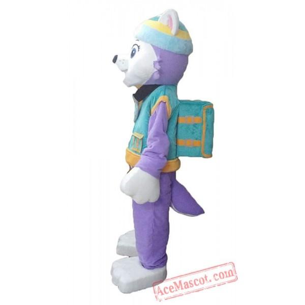 Paw Patrol Everest Dog Mascot Costume