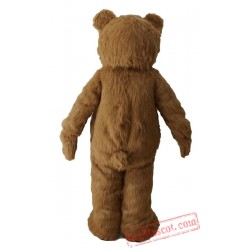 Adult Funny Smile Bear Mascot Costume