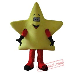 Adult Yellow Star Mascot Costume
