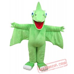 Adults Green Dinosaur Train Tiny Mascot Costume