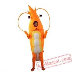Yellow Shrimp Mascot Costume