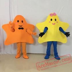 Yellow Star Mascot Star Girl Mascot Costume