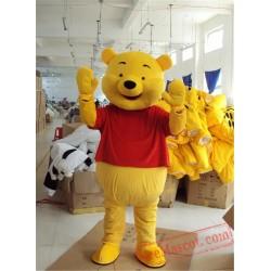 Yellow Pooh Bear Mascot Costume