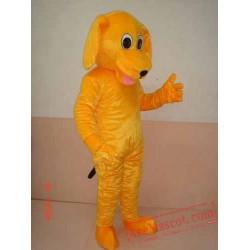 Yellow Dog Cartoon Mascot Costume