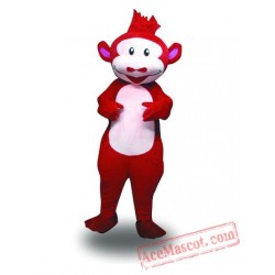 Adult Red Suit Monkey Mascot Costume