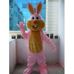 Adult Pink Bunny Rabbit Mascot Costume