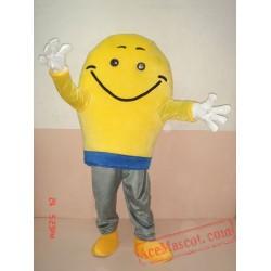 Yellow Smile Mascot Costume