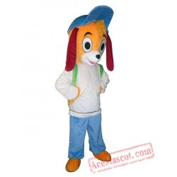 Adult Blue Hat Dog Mascot Costume