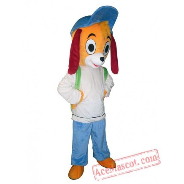 Adult Blue Hat Dog Mascot Costume