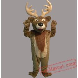 Adult Christmas Elk Deer Mascot Costume