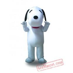 Adult White Dog Mascot Costume