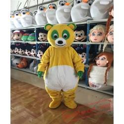 Yellow Panda Mascot Costume
