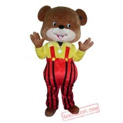 Yellow Coat Bear Mascot Costume