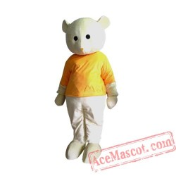 Adult Yellow Coat Bear Mascot Costume