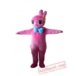 Adult Pink Easter Bunny Bug Rabbit Mascot Costume