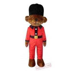 Adult Black Hat Bear Mascot Costume