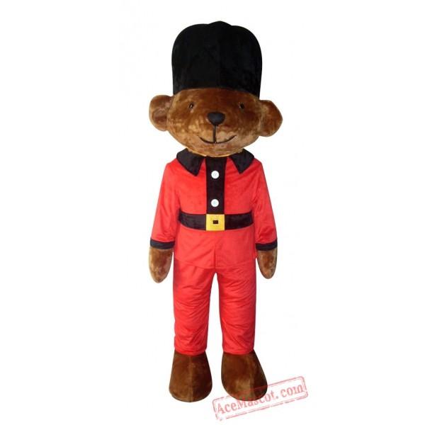 Adult Black Hat Bear Mascot Costume