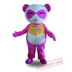 Adult Pink Panda Mascot Costume