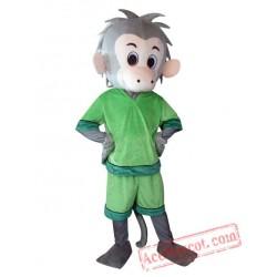 Adult Green Suit Monkey Mascot Costume