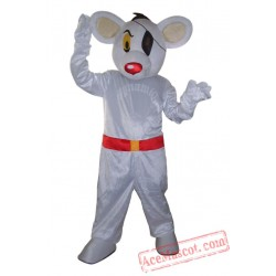 Adult White Mouse Mascot Costume
