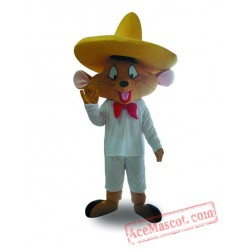 Adult Big Hat Mouse Mascot Costume