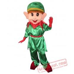Adult Christmas Elf Mascot Costume
