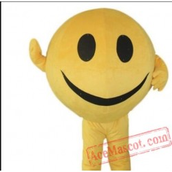 Yellow Smiley Ball Mascot Costume