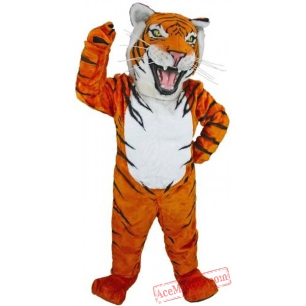 Grey Tiger Mascot Costume