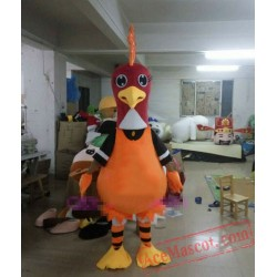 Adult Cartoon Rooster Mascot Costume