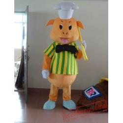 Yellow Pig Mascot Costume
