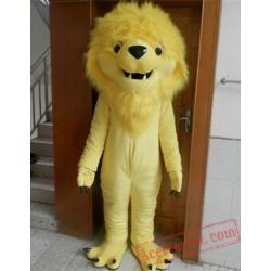 Yellow Carnival Lion Mascot Costume
