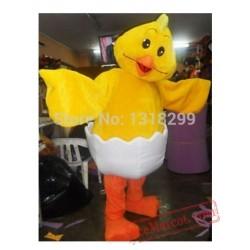 Yellow Chick Mascot Costume
