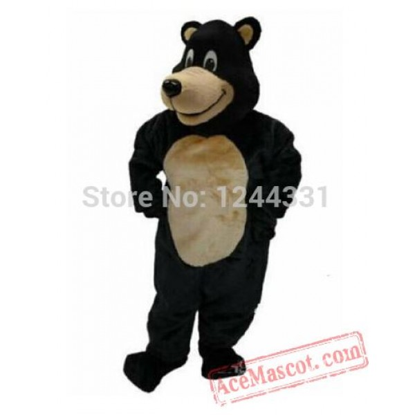 Black Bear Cartoon Mascot Costume