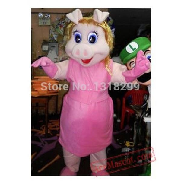 Head Miss Piggy Character Mascot Costume