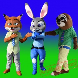 Zootopia Judy Hopp Rabbits Mascot Costume