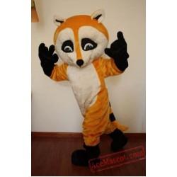 Yellow Raccoon Mascot Costume