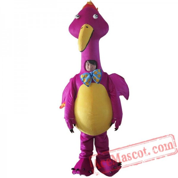 Details about  /Christmas Head Big Tail Purple Dragon Mascot Costume Cosplay Party Dress Adults@