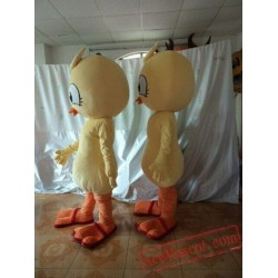 Yellow Bird Mascot Costume