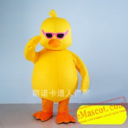Yellow Duck Cartoon Character Mascot Costume