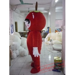 Apple Girl Mascot Costume