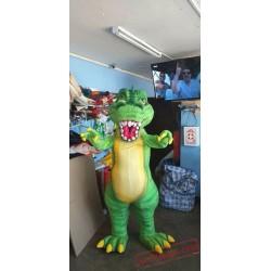 Adults Green Dinosaur Mascot Costume