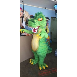 Adults Green Dinosaur Mascot Costume
