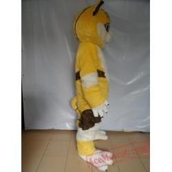 Yellow Fox Mascot Costume