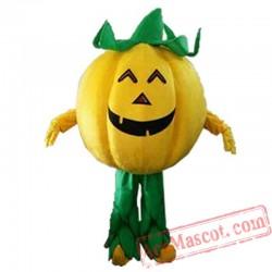 Yellow Pumpkin Mascot Costume