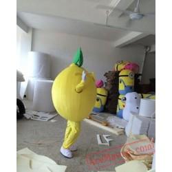 Yellow Lemon Party Mascot Costume