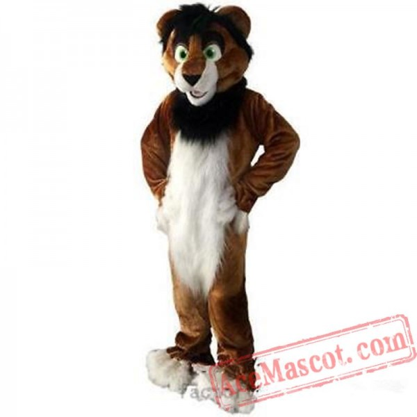 Halloween Long Fur Fox Wolf Fursuit Mascot Costume